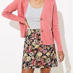 Loft Floral Jacquard Shift Skirt